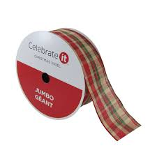 find the 2 5 woven wired jumbo plaid ribbon by celebrate it at