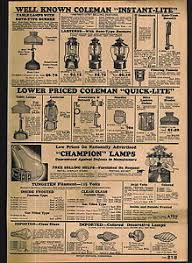 coleman lantern light bulb 1932 advert chion store light bulb l display stand coleman