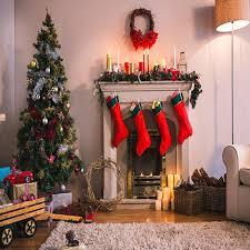 decorations tree fireplace light room photo backdrop vinyl