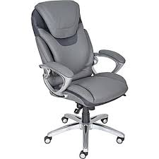 compare u0026 buy serta 43807 executive chair gray from staples