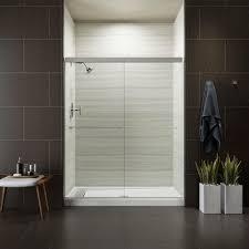 5 Shower Door Kohler Revel 59 5 8 In W X 70 In H Frameless Sliding Shower Door