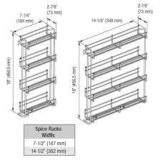 cabinet door mounted spice rack spice racks door mounted spice racks by vauth sagel