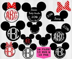minnie mouse monogram mickey svg bundle mickey monogram frames digital