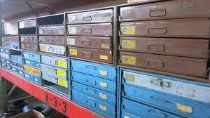 Parts Cabinets Lot Lawson Kimball U0026 Bowman 10 Metal Parts 4 Drawers Cabinet With