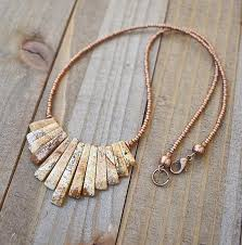 natural stone statement necklace images Natural stone necklace bib necklace copper jewelry southwestern jpg