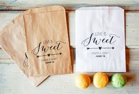 personalized wedding favor bags wedding favor bags is sweet design with arrow