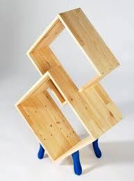 creative bookshelf plan oak wood material cube shape natural