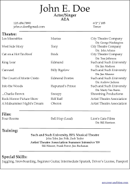 theater resume template theater resume template musical theatre