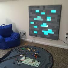 deco chambre minecraft minecraft fabriquer un minerai lumineux tableau chambre enfant