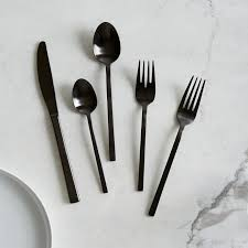 Design For Copper Flatware Ideas Matte Black Flatware Set West Elm