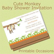 photo monkey baby shower invitations image