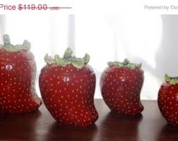 strawberry kitchen items strawberry canister set ceramic