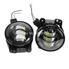 4 inch round led lights 2pcs 4 inch round led fog light headlight 30w projector lens with