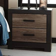 bedside l usb charger signature design by ashley harrington rustic two drawer night stand