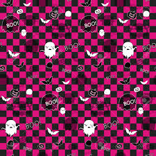 halloween ghost bat pumpkin seamless pattern background royalty