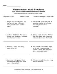 measurement word problems u2014 instant worksheets