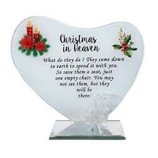 new memorial in heaven glass plaque with chair funeral