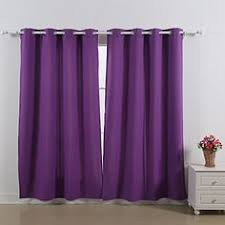 Thick Purple Curtains Silkana Faux Silk Grommet Curtain Pair 56 88 In Turquoise Home