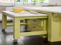 Kitchen Island Wheels by Kitchen Island With Pull Out Table Gallery Work Wheels Images