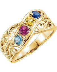 4 mothers ring here s a great deal on 14k gold family s ring 4
