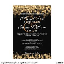 Gold Invitation Card Elegant Wedding Gold Lights 5x7 Paper Invitation Card Explore