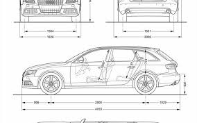 audi a4 length audi a4 dimensions images search