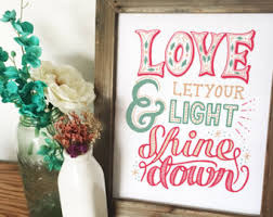 Let Your Light Shine Down Shine Down Etsy