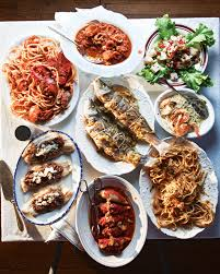 Festive Dinner Party Menu - menu a feast of the seven fishes for christmas eve christmas