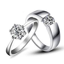 jewelry couple rings images Gorgeous couple rings jewelry white gold his and her jewellery 1ct jpg