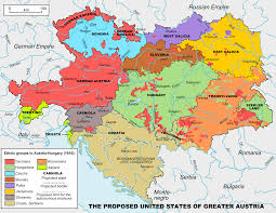 the united states of america and neighbouring countries map united states of greater austria