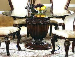 glass top dining room table round glass top dining table lesdonheures com