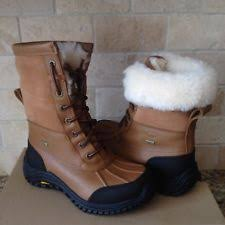 ugg s adirondack ii waterproof boot ugg adirondack ii luxe quilt leather chestnut waterproof boots