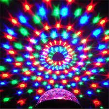 mini disco ball light sxzm 3w dj light rgb color changing sound actived crystal magic mini
