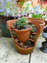 Pot Garden Ideas These 39 Broken Pots Mini Garden Ideas Will Your Visitors