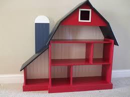 barn bookshelf blue silo kids childrens furniture and toys