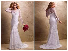 fit and flare long sleeves sheer wedding dresses with sweetheart