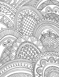 hard pattern coloring pages