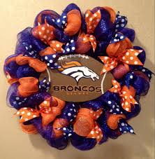 Denver Broncos wreath Denver Broncos wreaths Broncos front