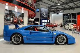 blue f40 blue f40 with tricolore stripe is a turner
