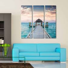 Modern Beach House Decor Hd Landscape Canvas Art Print Painting Poster Print Wall Pictures