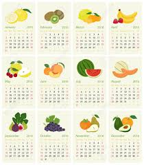 fruit of the month calendar for 2016 with fruit of the month royalty free