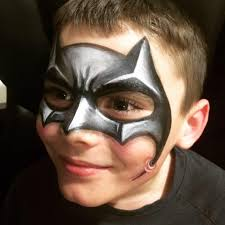 batman face paint 3d batman mask i painted on my son 3d