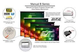 manual b series manual projection screens elite screens