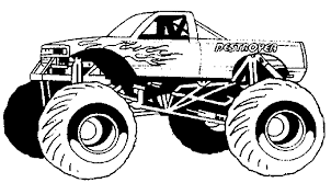 free printable monster truck coloring pages for kids throughout