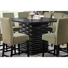 Coaster Dining Room Table Amazon Com Coaster Stanton Contemporary Counter Table In Black