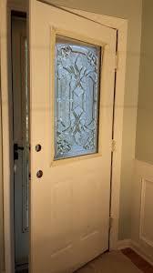 glass panel front door how to add a decorative glass window to a fiberglass door