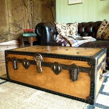 storage trunk coffee table marvelous steamer trunk coffee table somerefo org