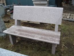 Curved Bench With Back Granite Benches Richardson Monument Co Inc
