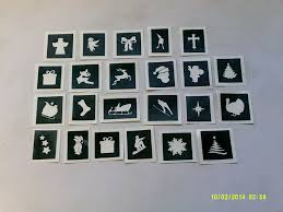 10 100 christmas themed mini small stencils for etching on glass