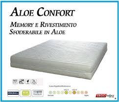 materasso antiallergico materasso memory foam mod aloe confort 180x200 anallergico